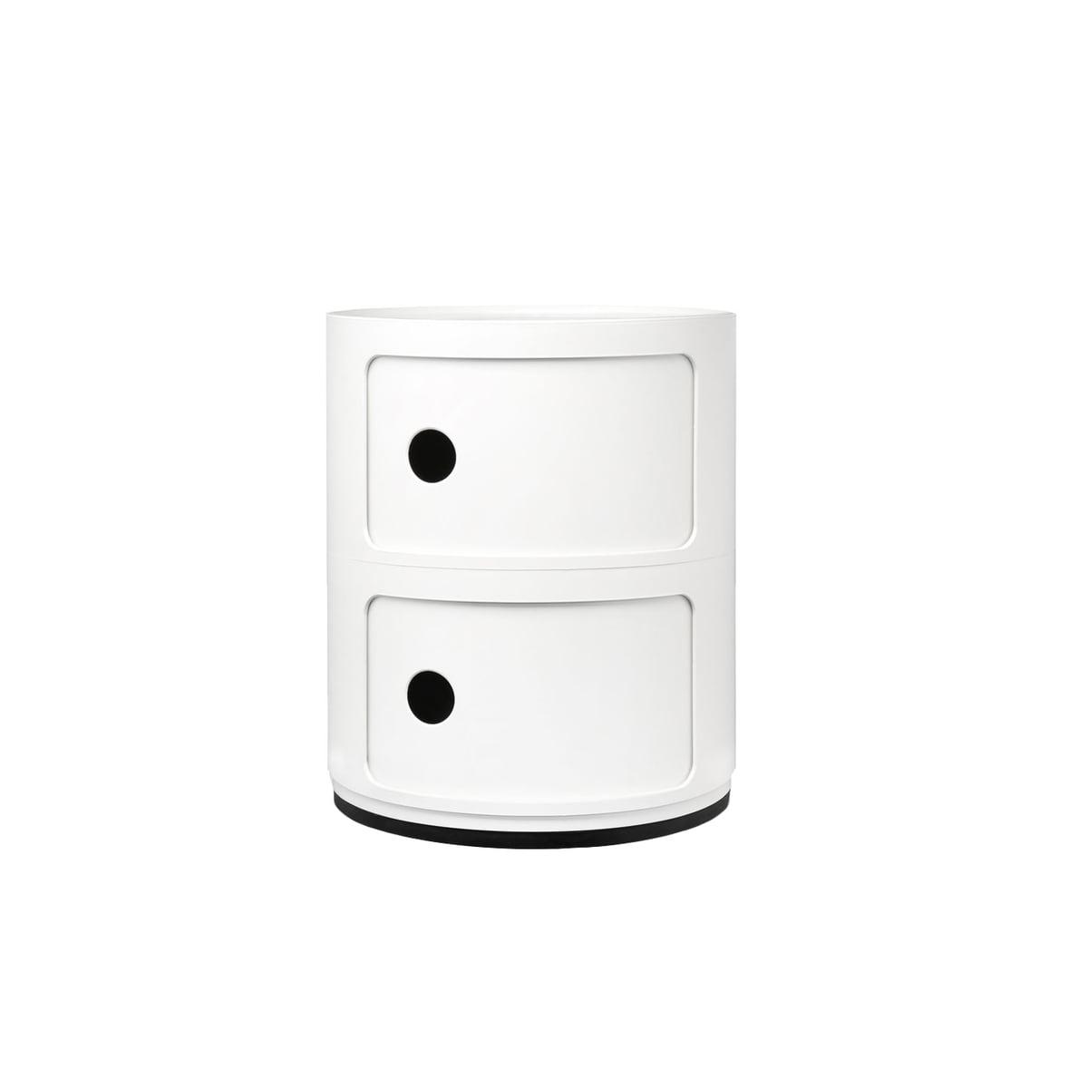 Table De Chevet Componibili kartell - componibili 4966, blanc
