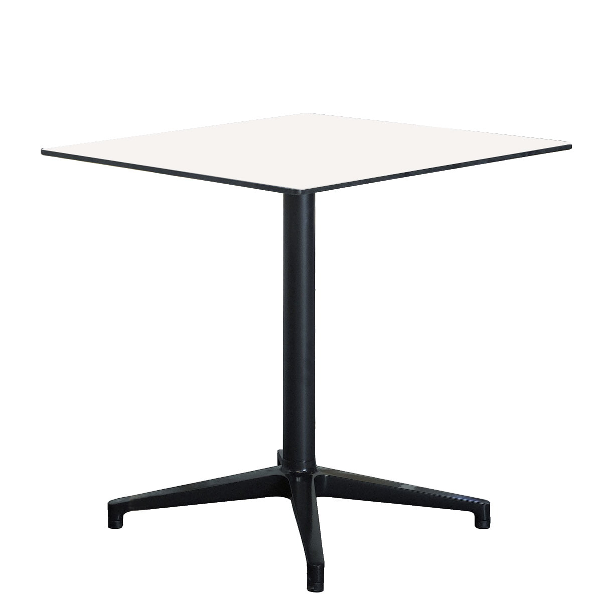 vitra bistro table outdoor rectangulaire 79 6 x 64 cm blanc noir