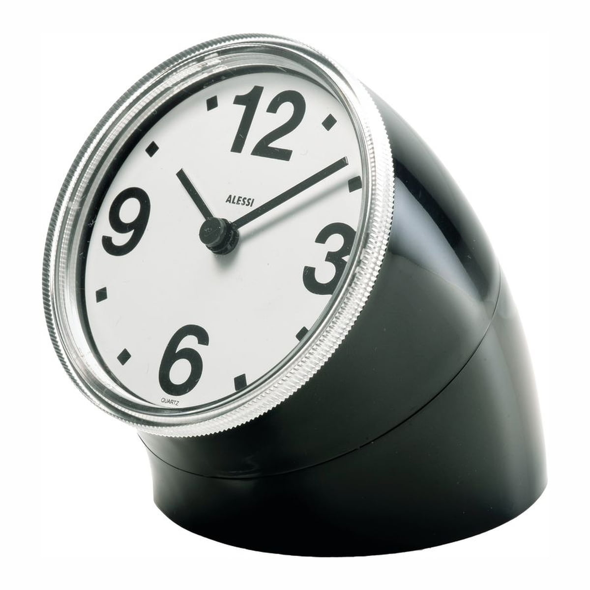 Horloge De Bureau Originale alessi - horloge de table cronotime, noir