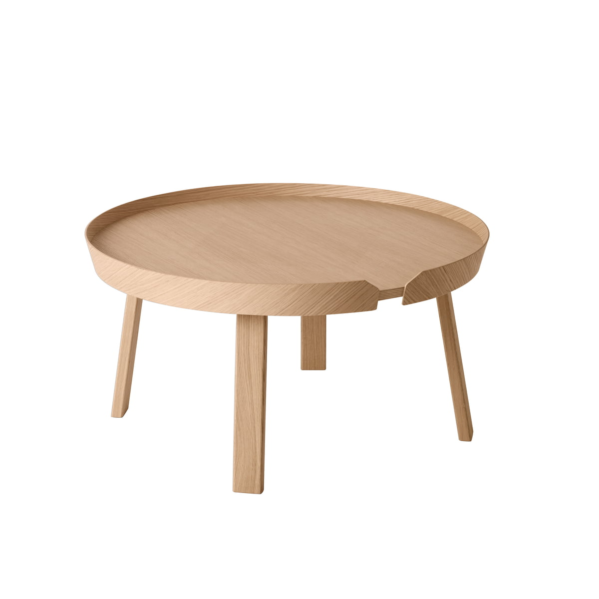 Around table de salon de muuto for Beistelltisch c form