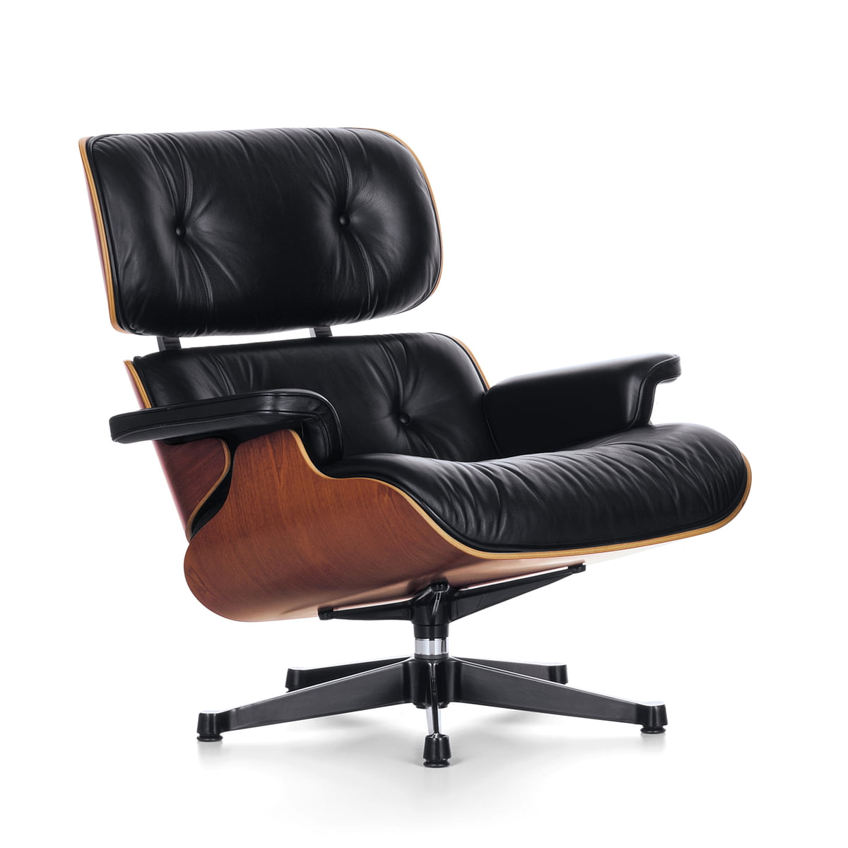 Vitra lounge chair en merisier for Vitra lounge chair nachbau