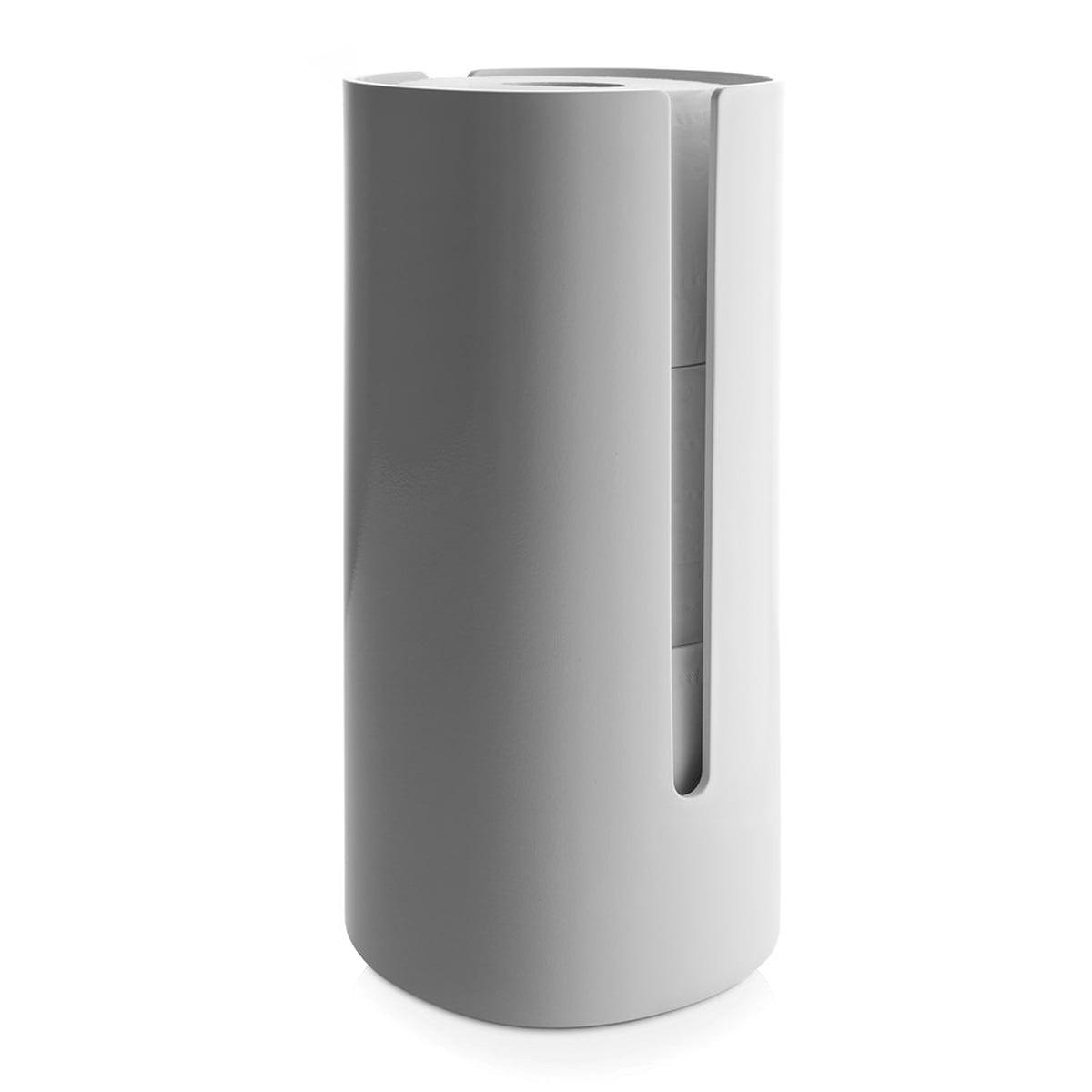 Alessi birillo d rouleur papier toilette for Rangement papier toilette blanc