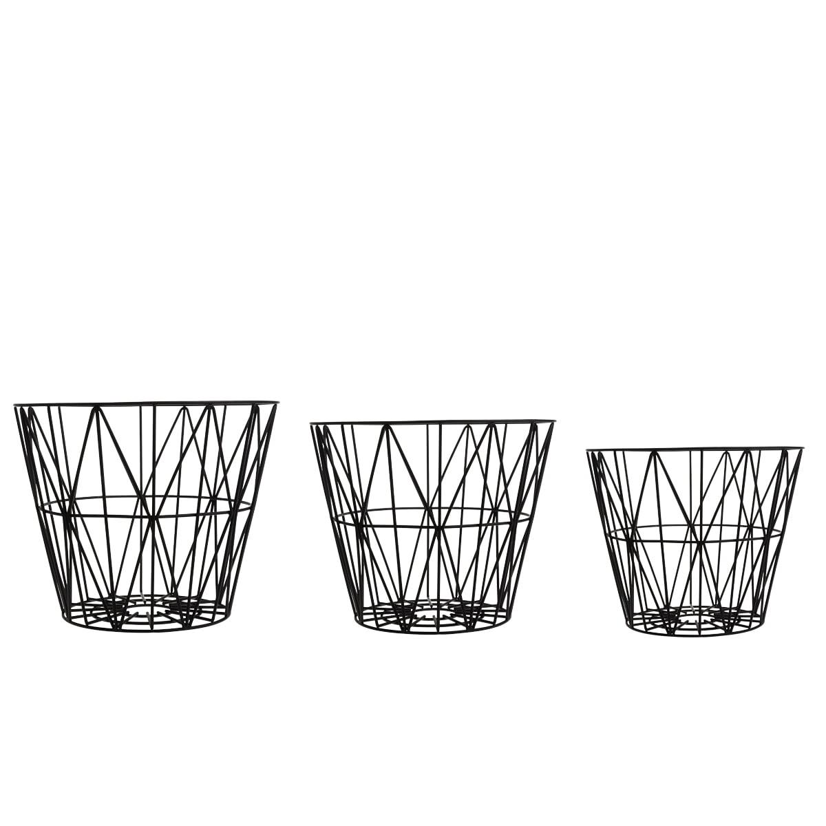 ferm living wire basket large. Black Bedroom Furniture Sets. Home Design Ideas