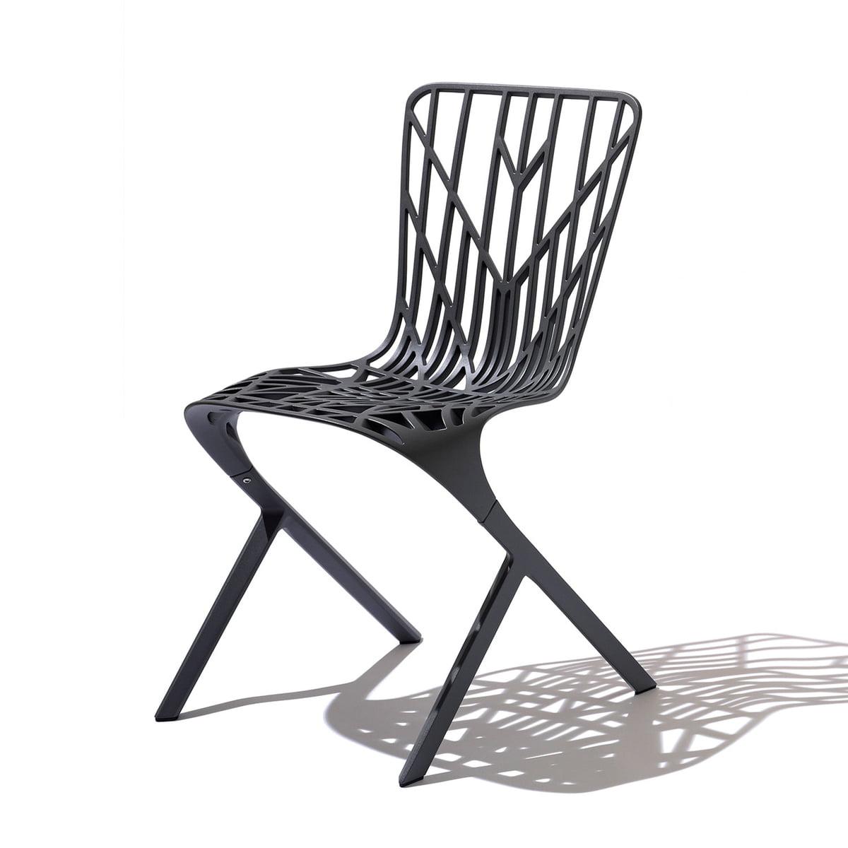 Chaise washington skeleton chair de knoll for Chaise knoll