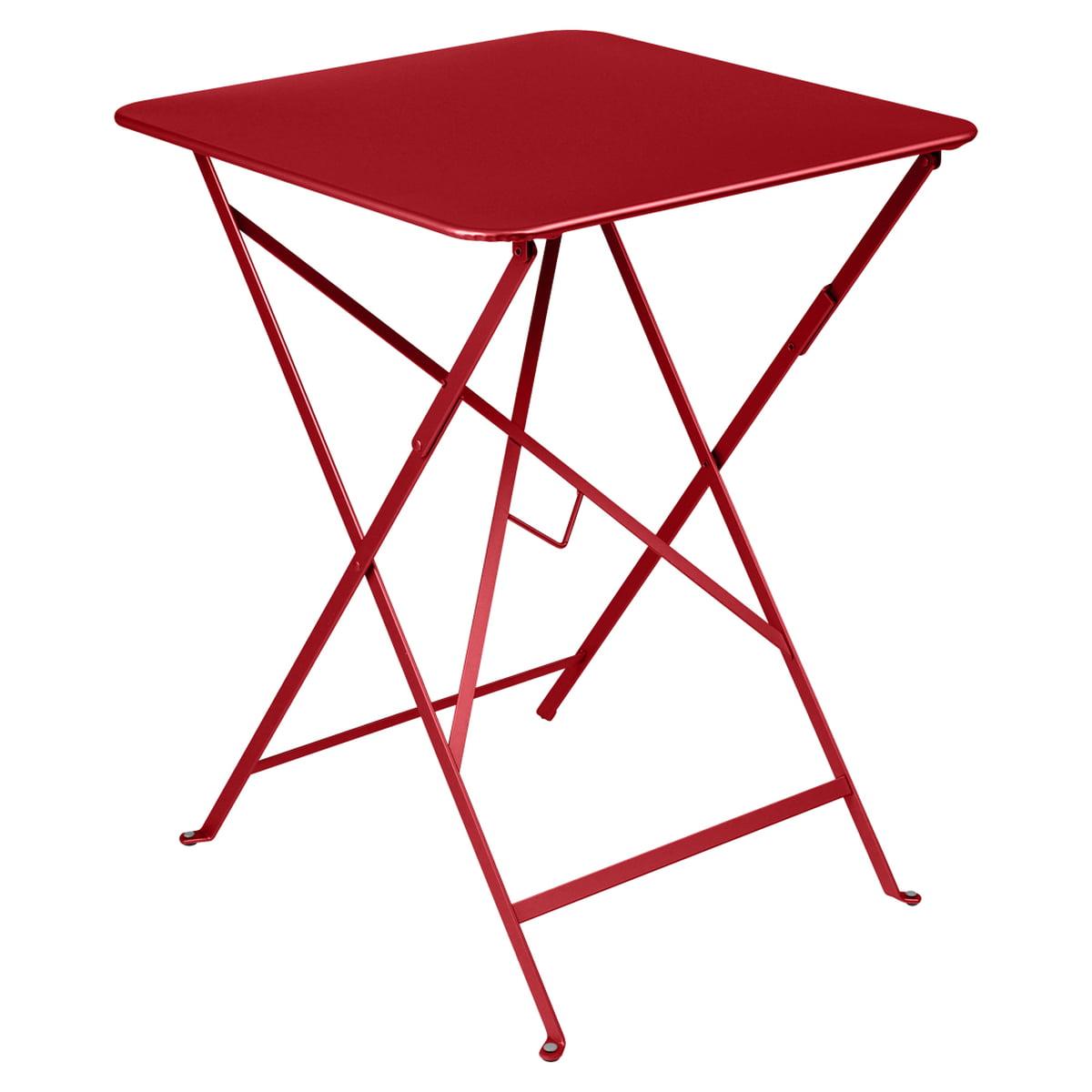 Fermob - Table pliante Bistro 57 x 57 cm, blanc coton