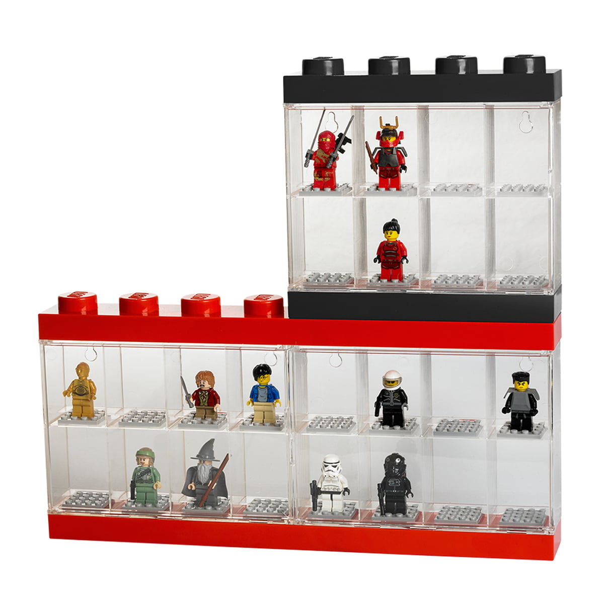 lego bo te de rangement et pr sentoir pour figurines. Black Bedroom Furniture Sets. Home Design Ideas