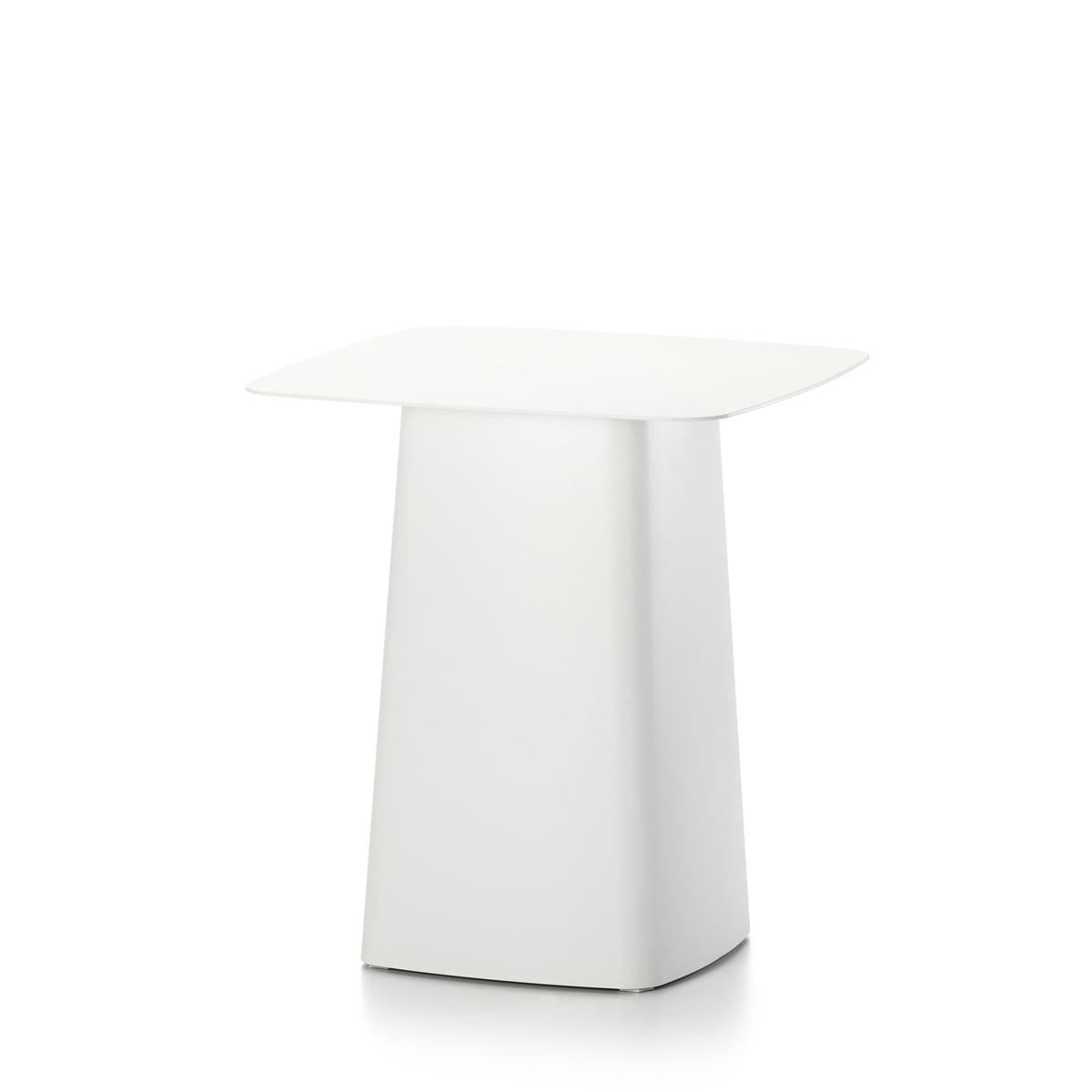 Vitra metal side table dextérieur petit ivoire