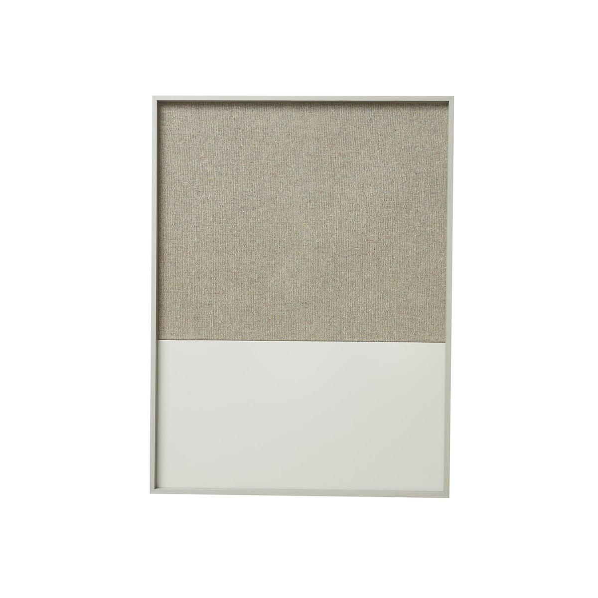 Crochet Pour Tableau Lourd ferm living - tableau d'affichage frame petit format, gris