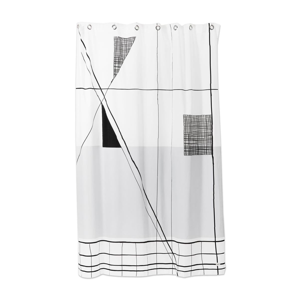 rideau de douche trace de ferm living. Black Bedroom Furniture Sets. Home Design Ideas