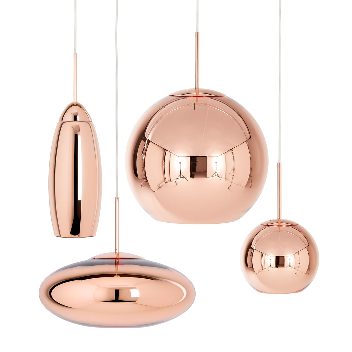 luminaire suspendu copper tall par tom dixon. Black Bedroom Furniture Sets. Home Design Ideas