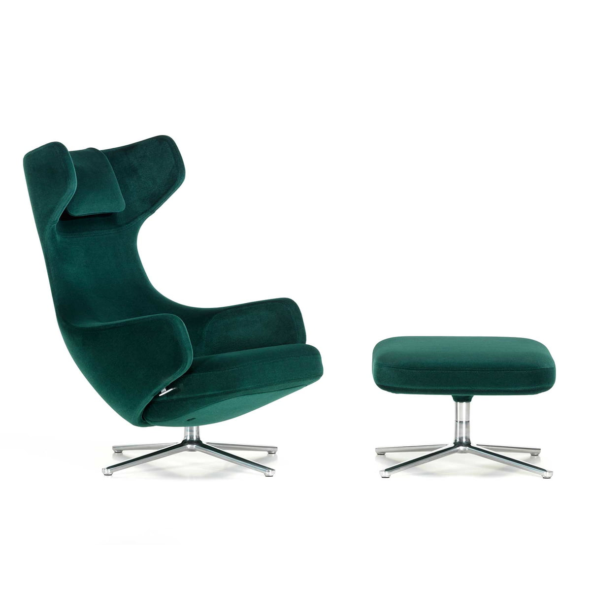 Grand repos fauteuil ottomane vitra for Fauteuil vitra prix