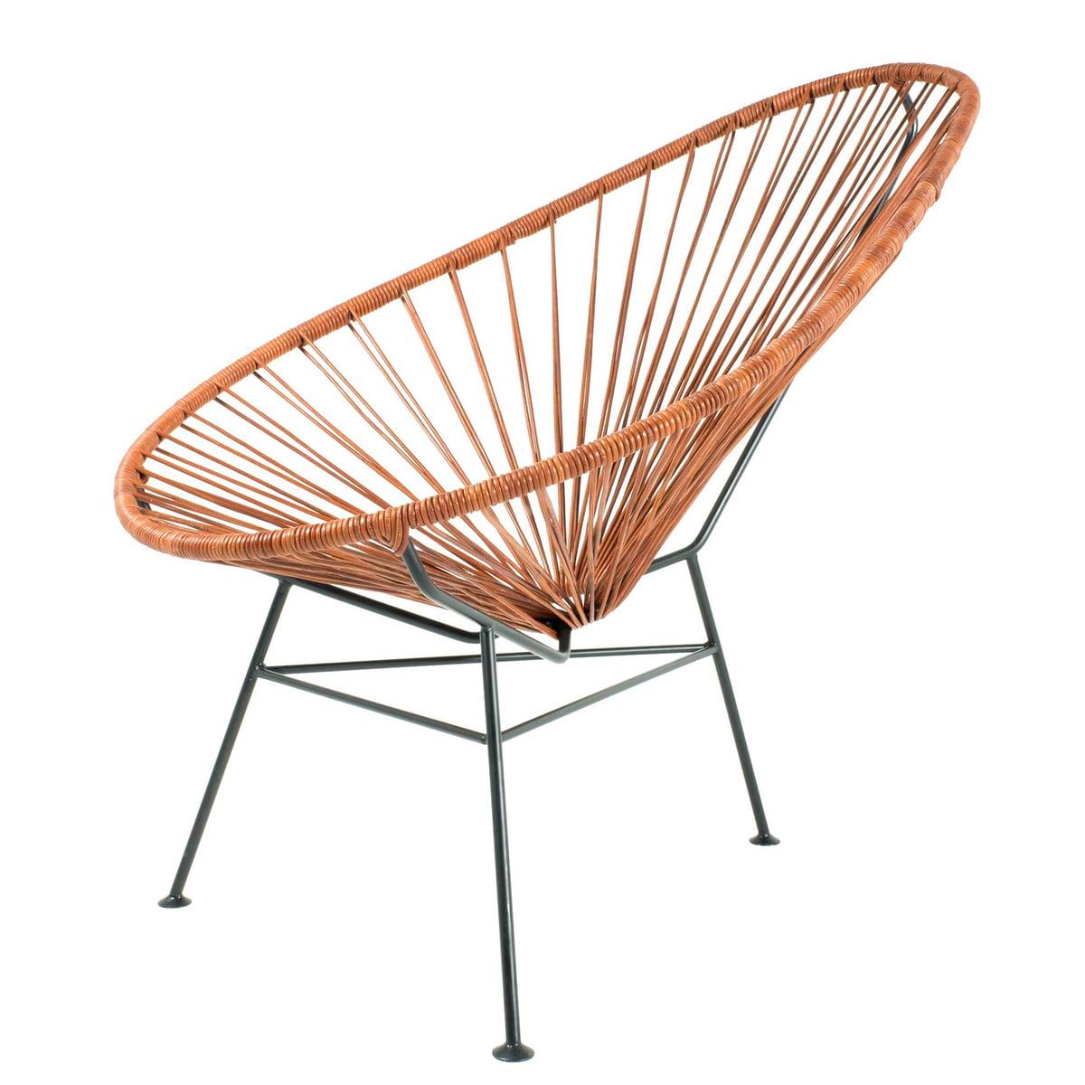 Le fauteuil acapulco cuir d 39 acapulco design - Fauteuil acapulco noir ...