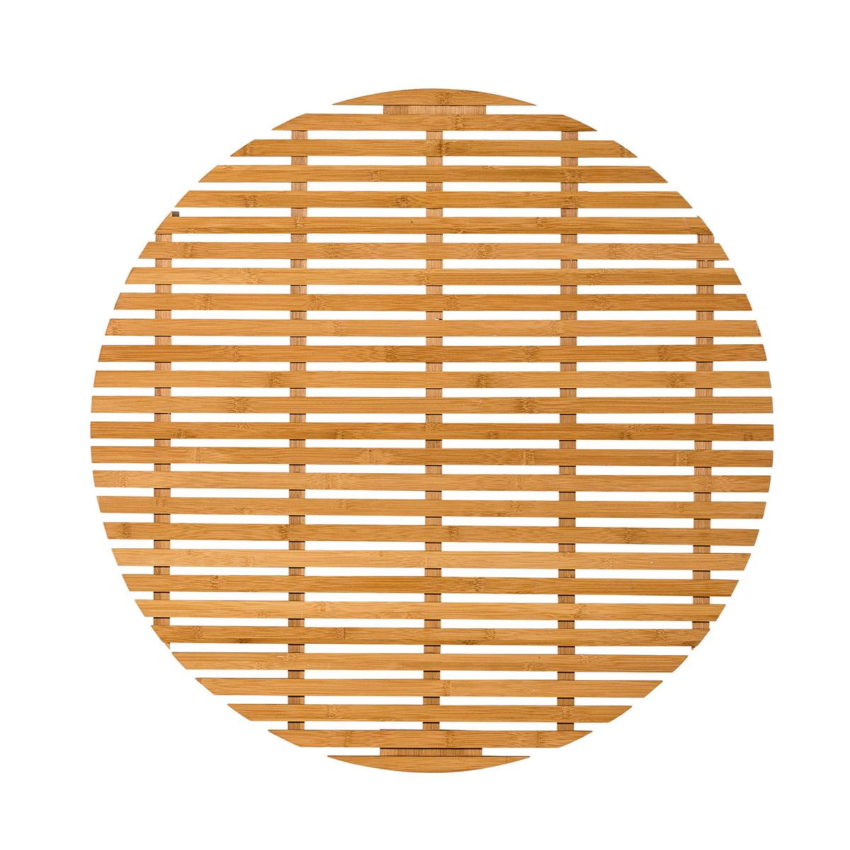 Tapis Salle De Bain Ovale ~ bloomingville tapis de salle de bain bambou