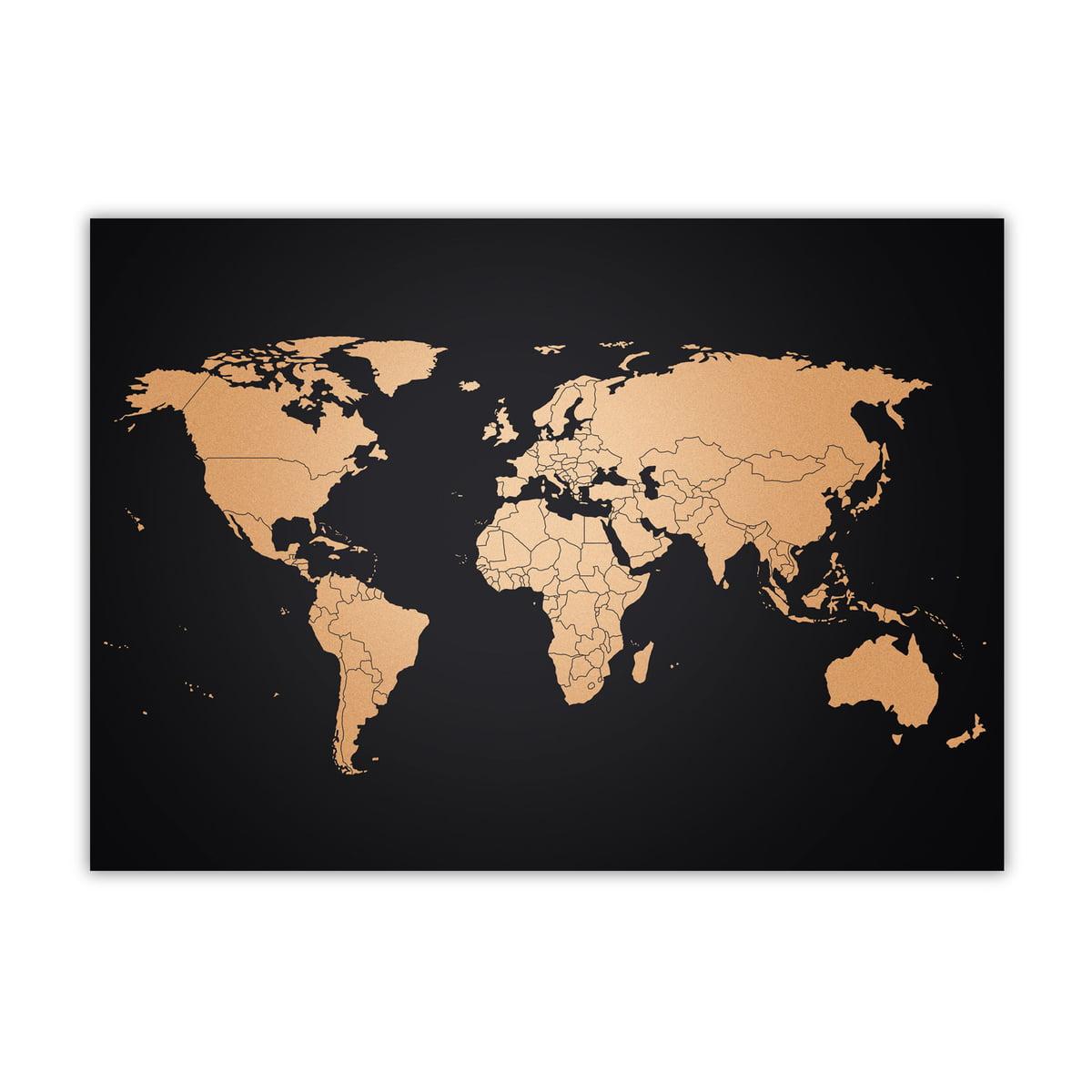 carte du monde copper map d 39 awesome maps. Black Bedroom Furniture Sets. Home Design Ideas