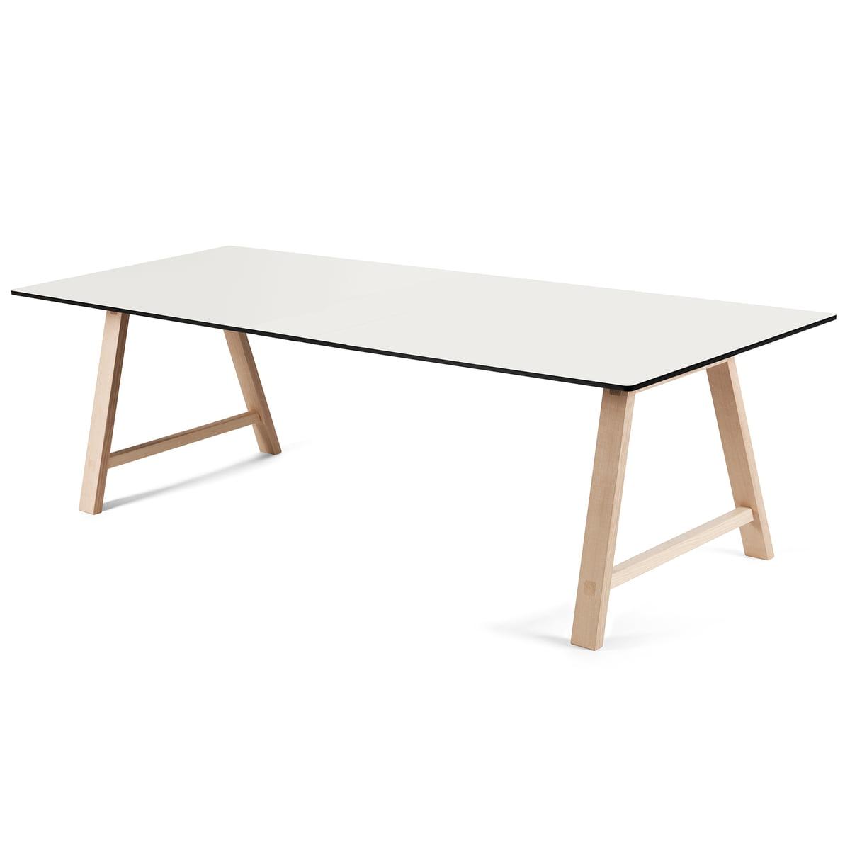 220 Andersen Blanc Savonné T1 Extensible Furniture Stratifié Table CmChêne E9DHWY2I