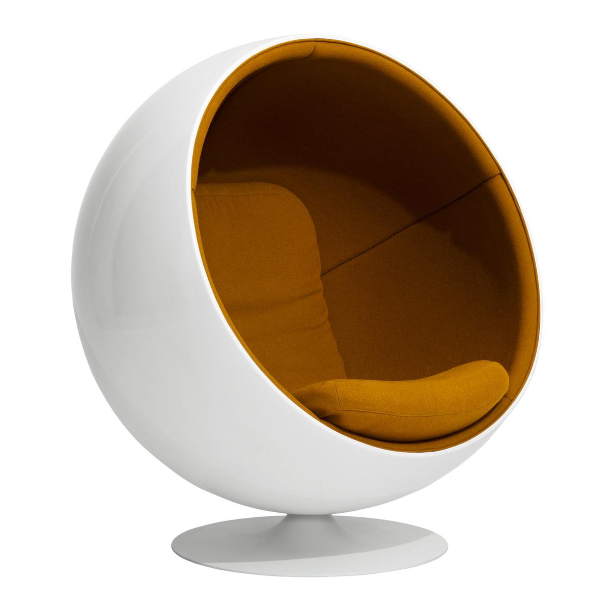 Eero Aarnio Originals Fauteuil Ball Chair, orange (Hallingdal 65 547)