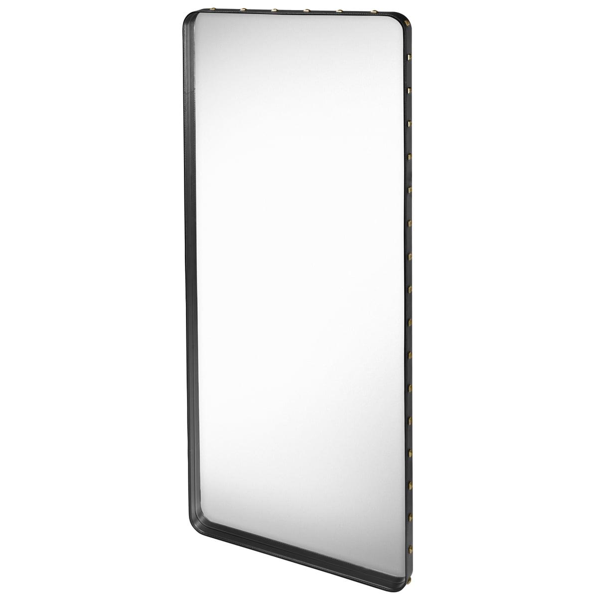 Achetez le miroir adnet rectangle par gubi for Miroir 70 cm