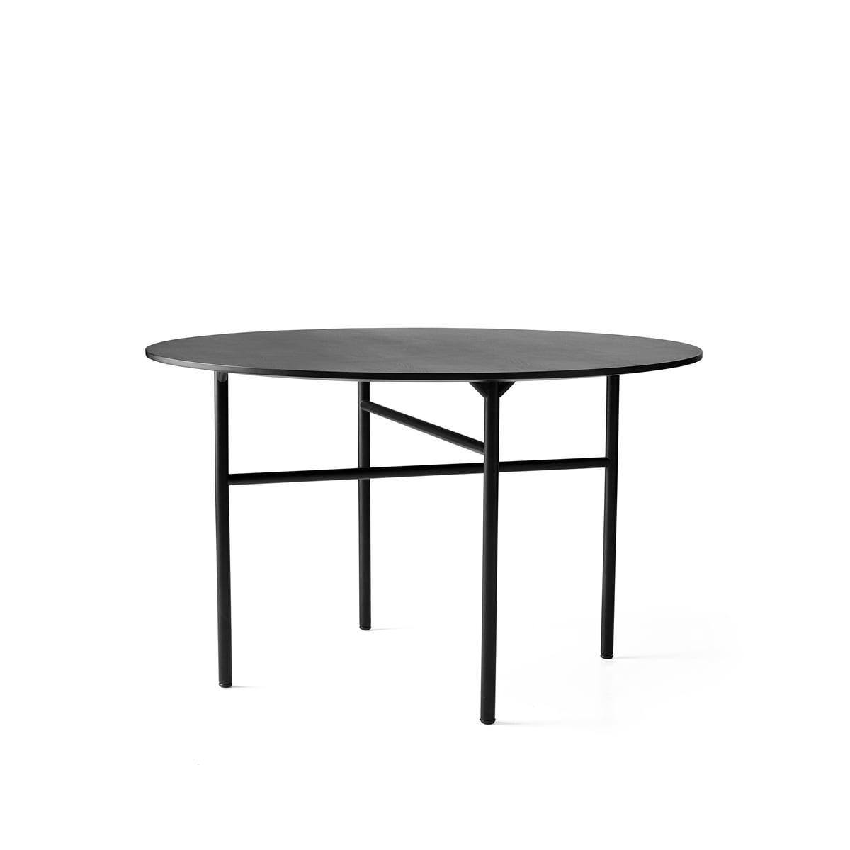 Snaregade Table, Ronde, Ø 120 Cm, Par Menu Placage De Chêne Teinté Noir