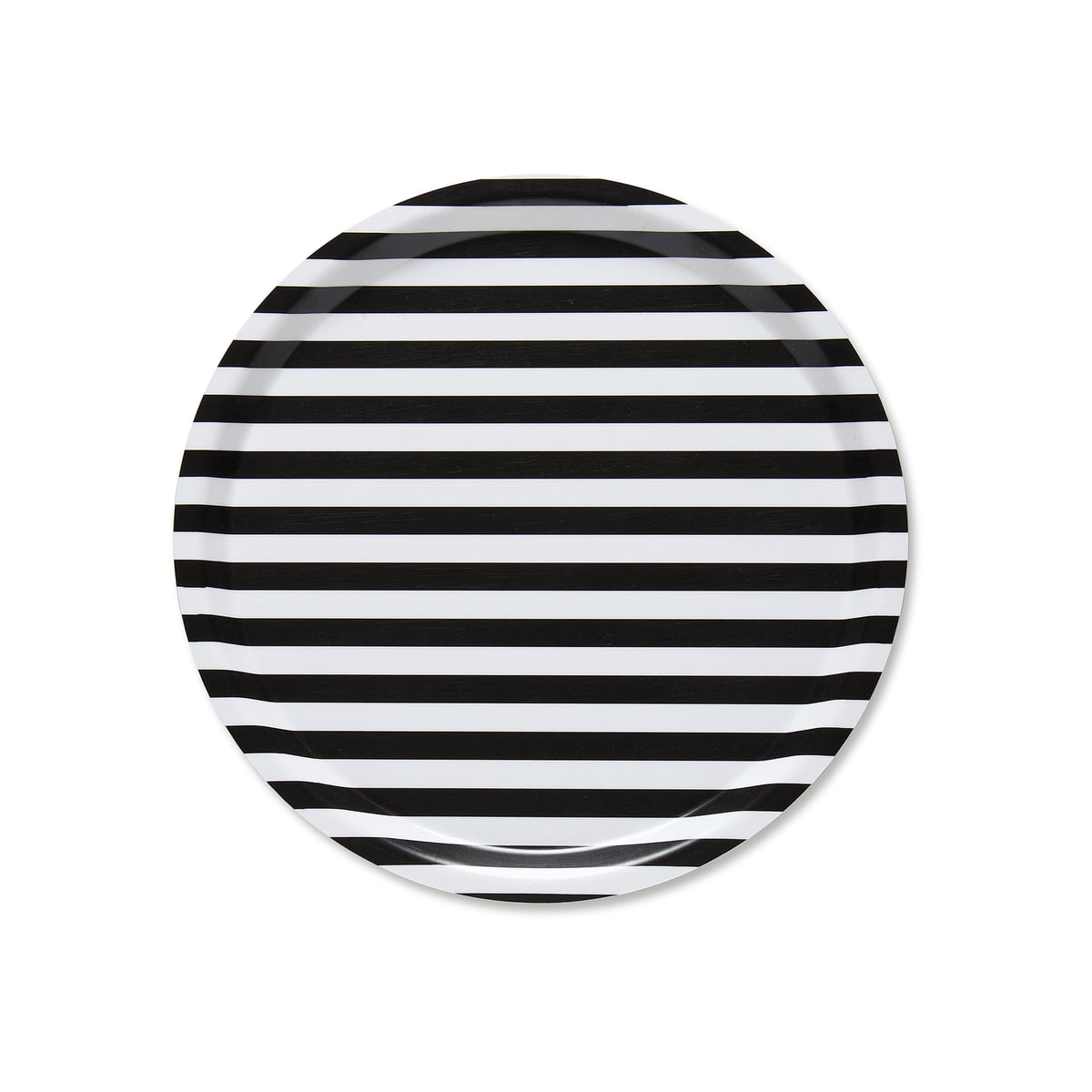 plateau rond avec rayures marimekko. Black Bedroom Furniture Sets. Home Design Ideas