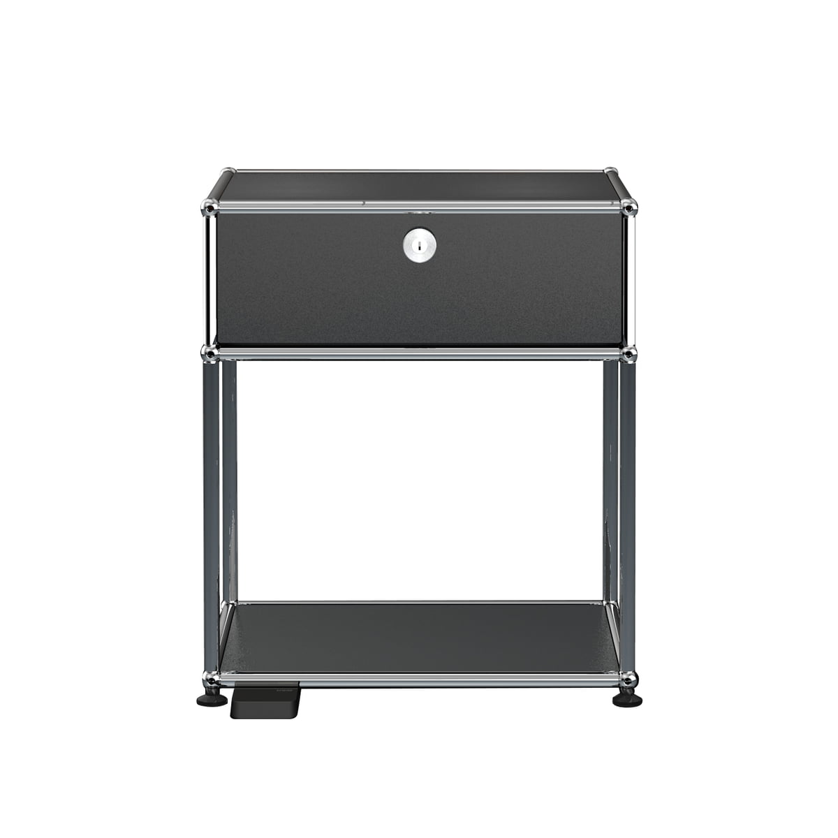 table de nuit avec clairage usm haller. Black Bedroom Furniture Sets. Home Design Ideas