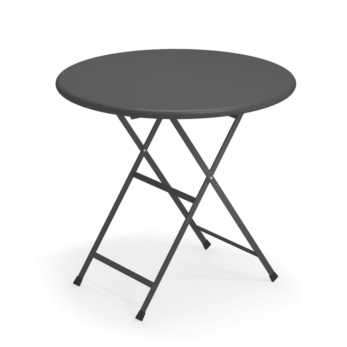 Emu - Table pliante arc en ciel, ø 80 x h 74 cm, fer antique