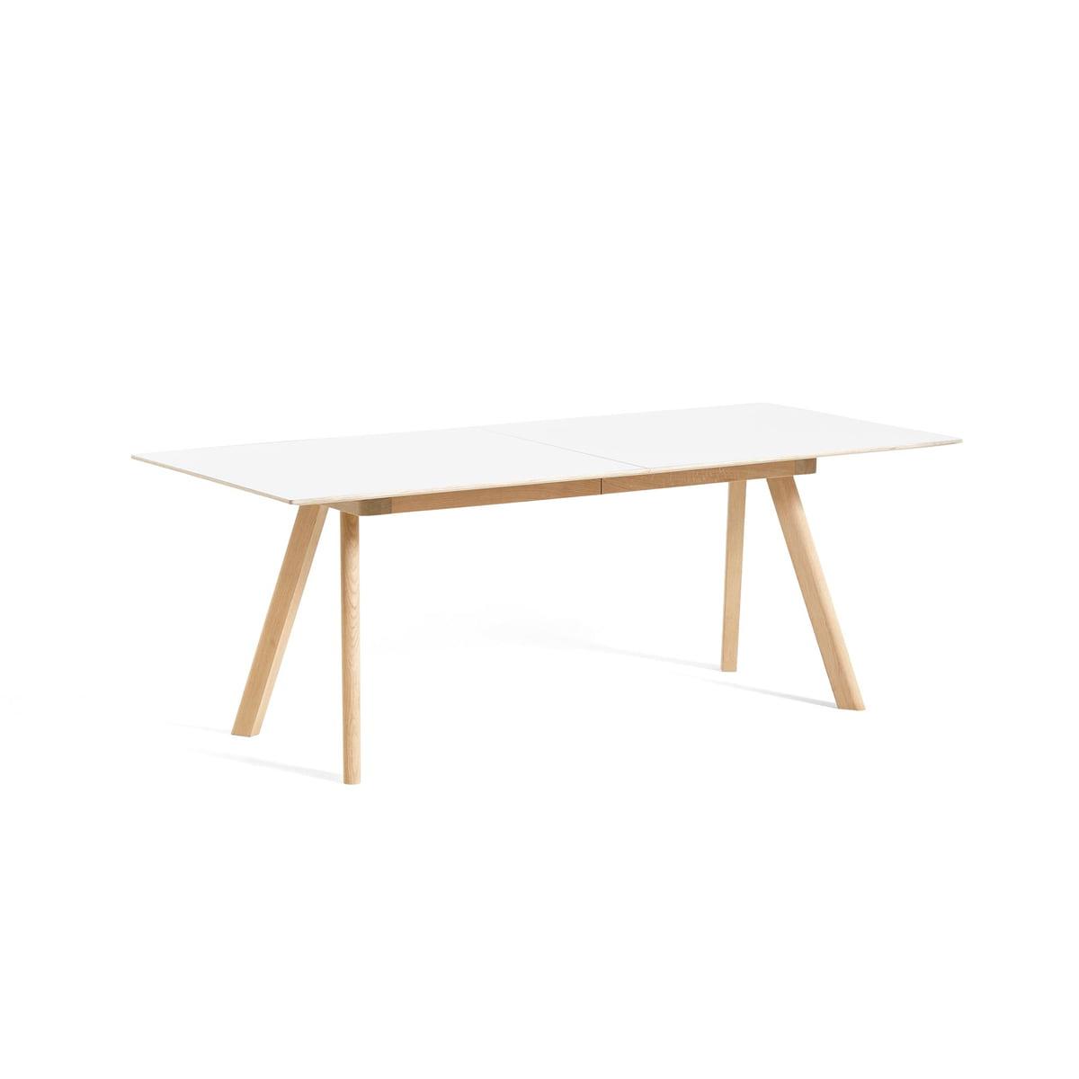 Hay Table à rallonge copenhague cph30, l 160310 x l 80 x h 74 cm, chêne laqué mat