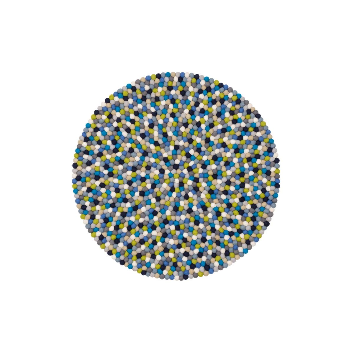 myfelt Lotte Feutre Boule de Rond Dessous de Plat Laine Vierge /Ø 20/cm Multicolore