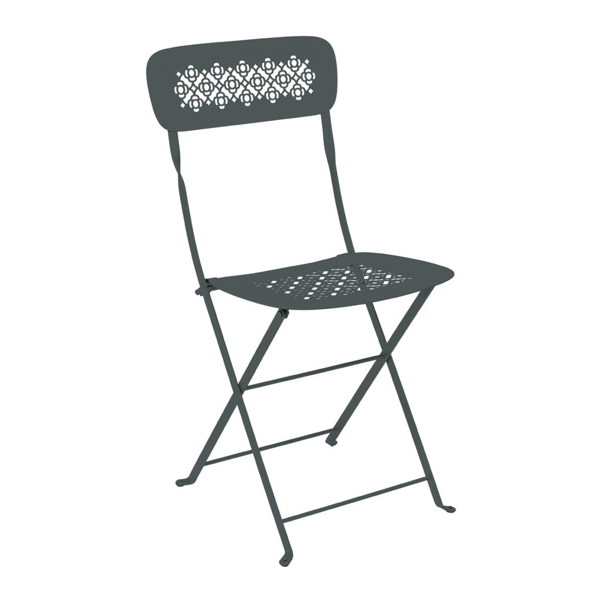Fermob chaise pliante lorette, gris orage