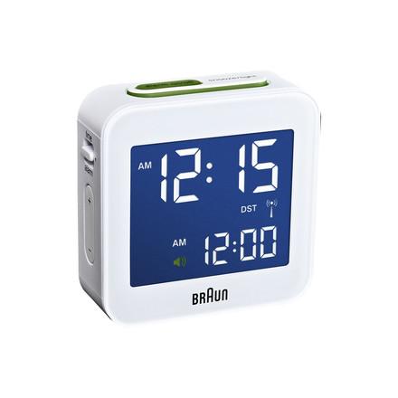 Braun - Radio-réveil numérique BNC008, blanc - Lumière allumée