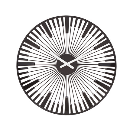 Koziol - Horloge murale Piano, noire