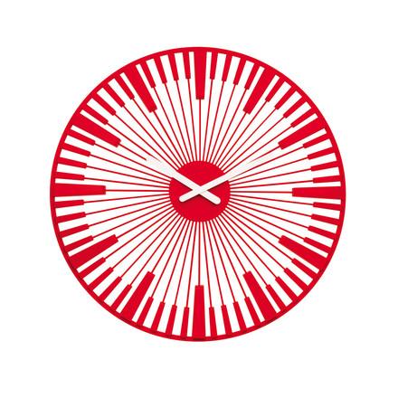 Koziol - Horloge murale Piano, rouge