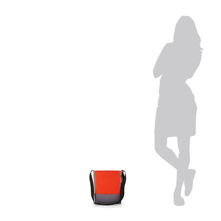 Le shoulderbag S de reisenthel en patchwork mandarine