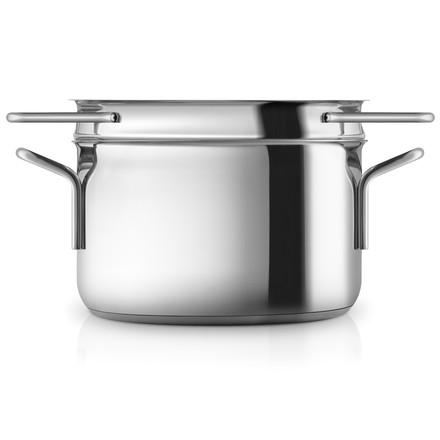 Casserole Stainless Steel avec égouttoir pour pâtes par Eva Trio