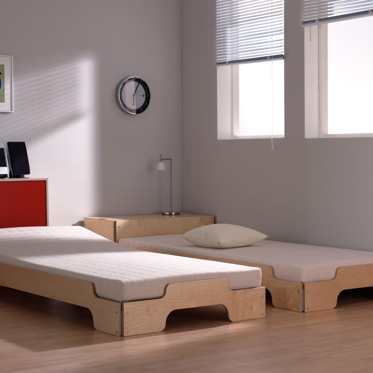 lit empilable en rable rolf heide. Black Bedroom Furniture Sets. Home Design Ideas