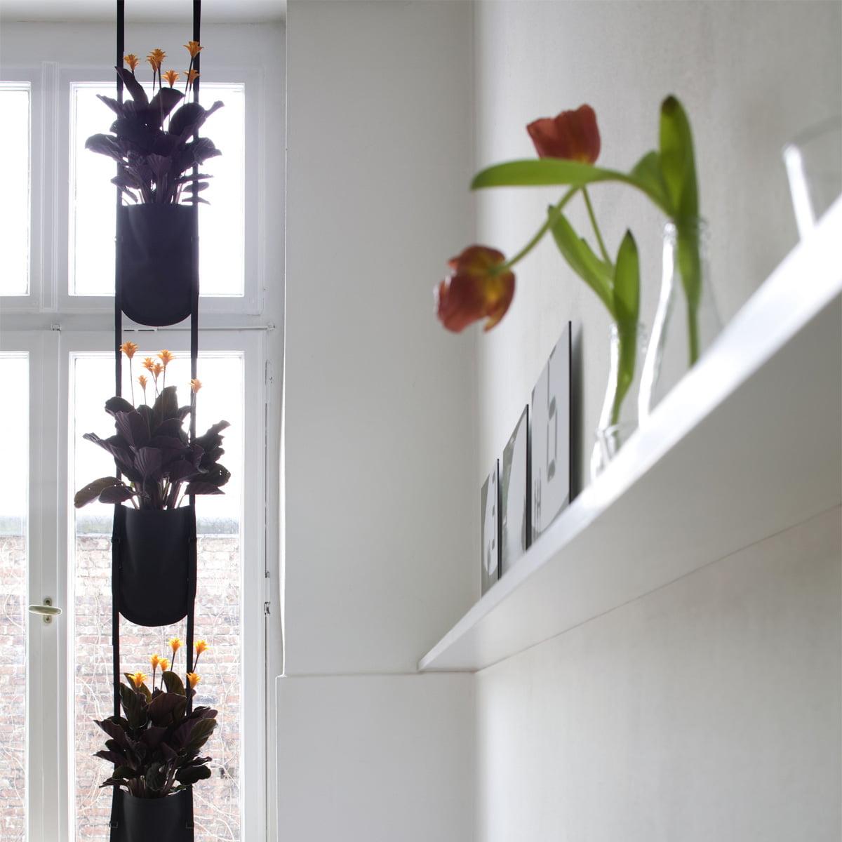 Suspension Pour Plantes D Intérieur authentics - sac à plantes urban garden s, noir