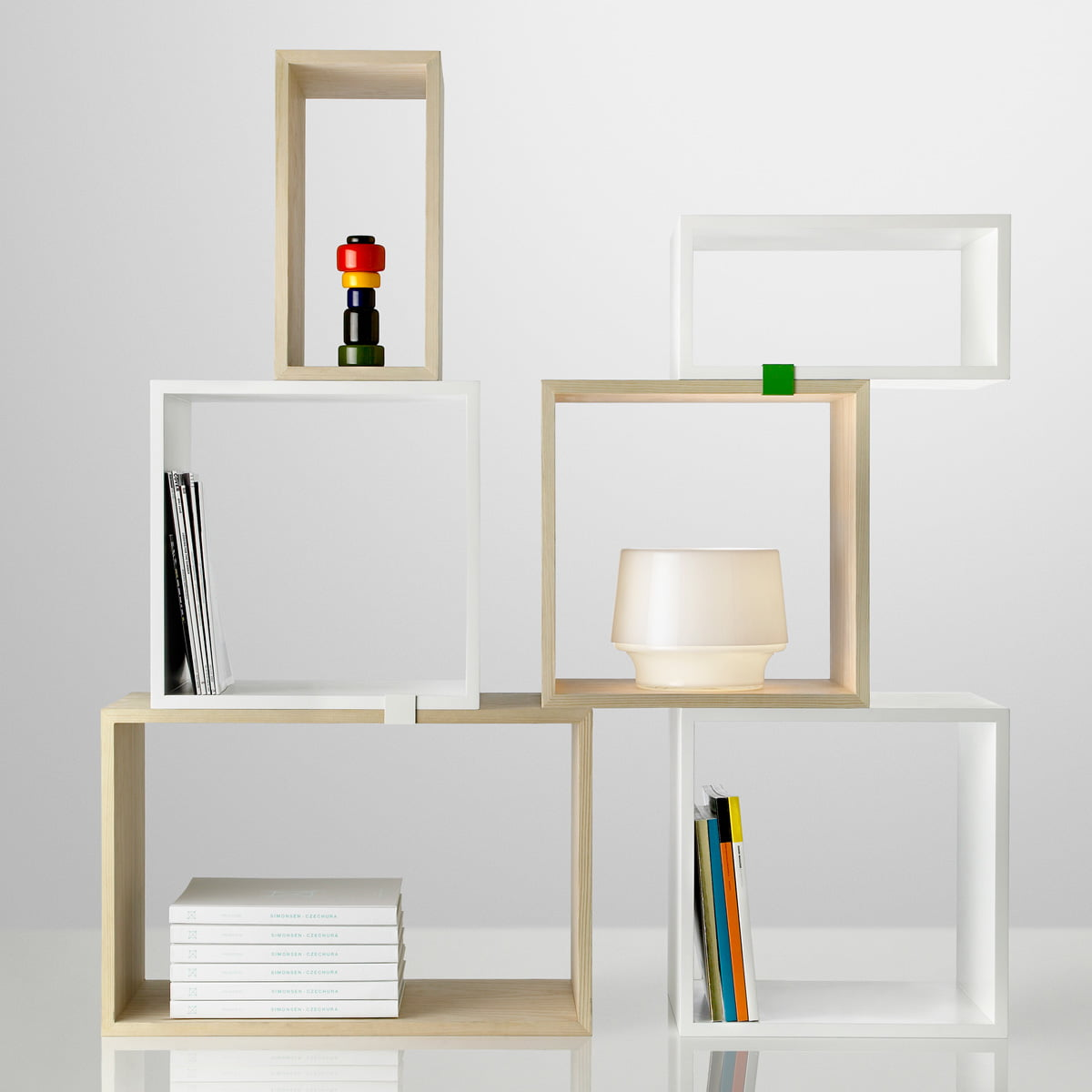 Connu Stacked Système étagères blanc | Muuto | Shop LK06