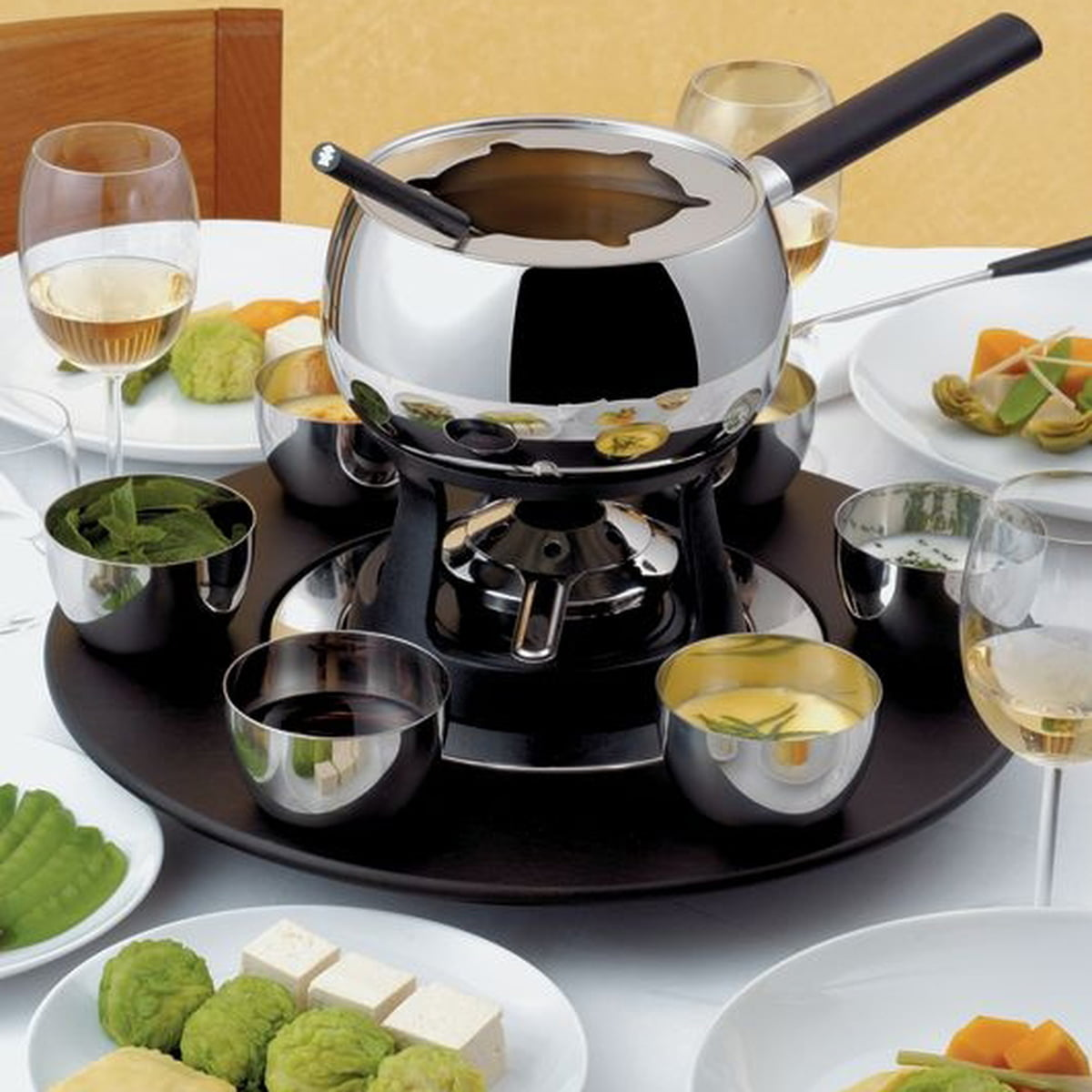 alessi service fondue bourguignonne mami. Black Bedroom Furniture Sets. Home Design Ideas