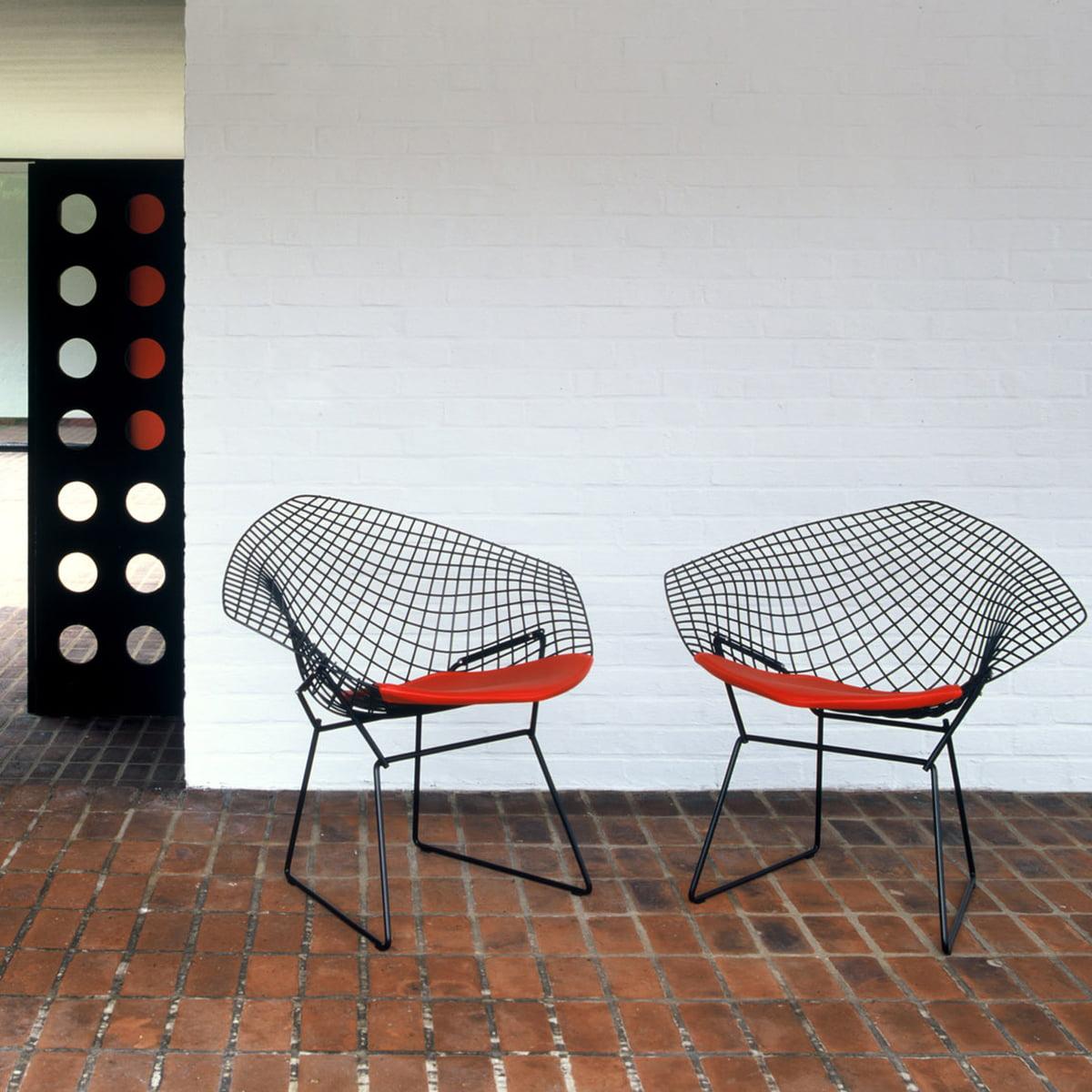 fauteuil bertoia diamond de knoll connox. Black Bedroom Furniture Sets. Home Design Ideas
