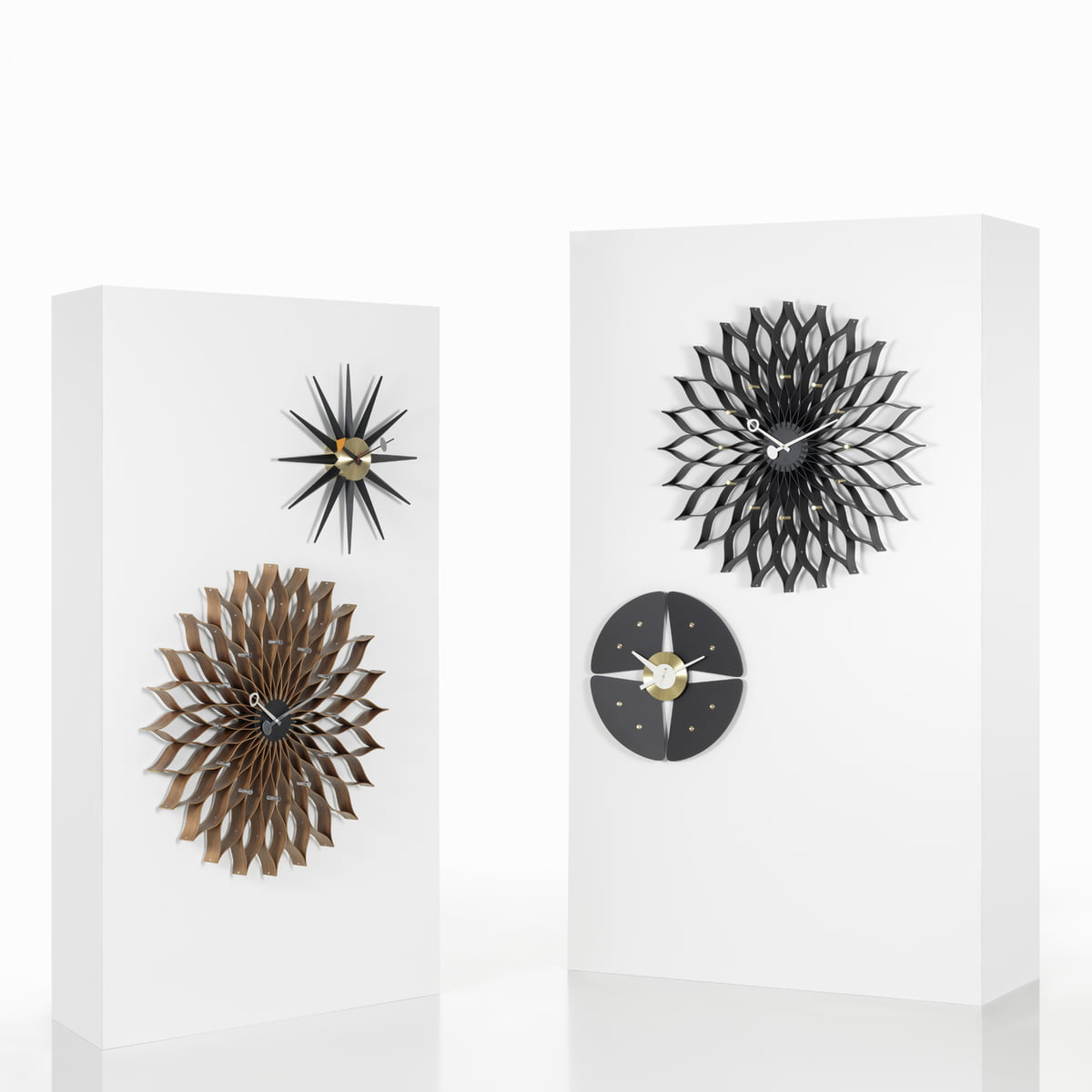 sunburst clock de vitra connox. Black Bedroom Furniture Sets. Home Design Ideas