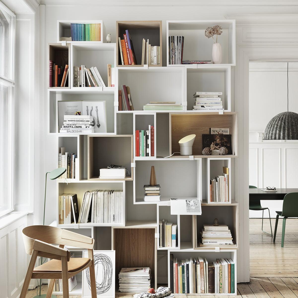 Stacked Système étagères blanc | Muuto | Shop