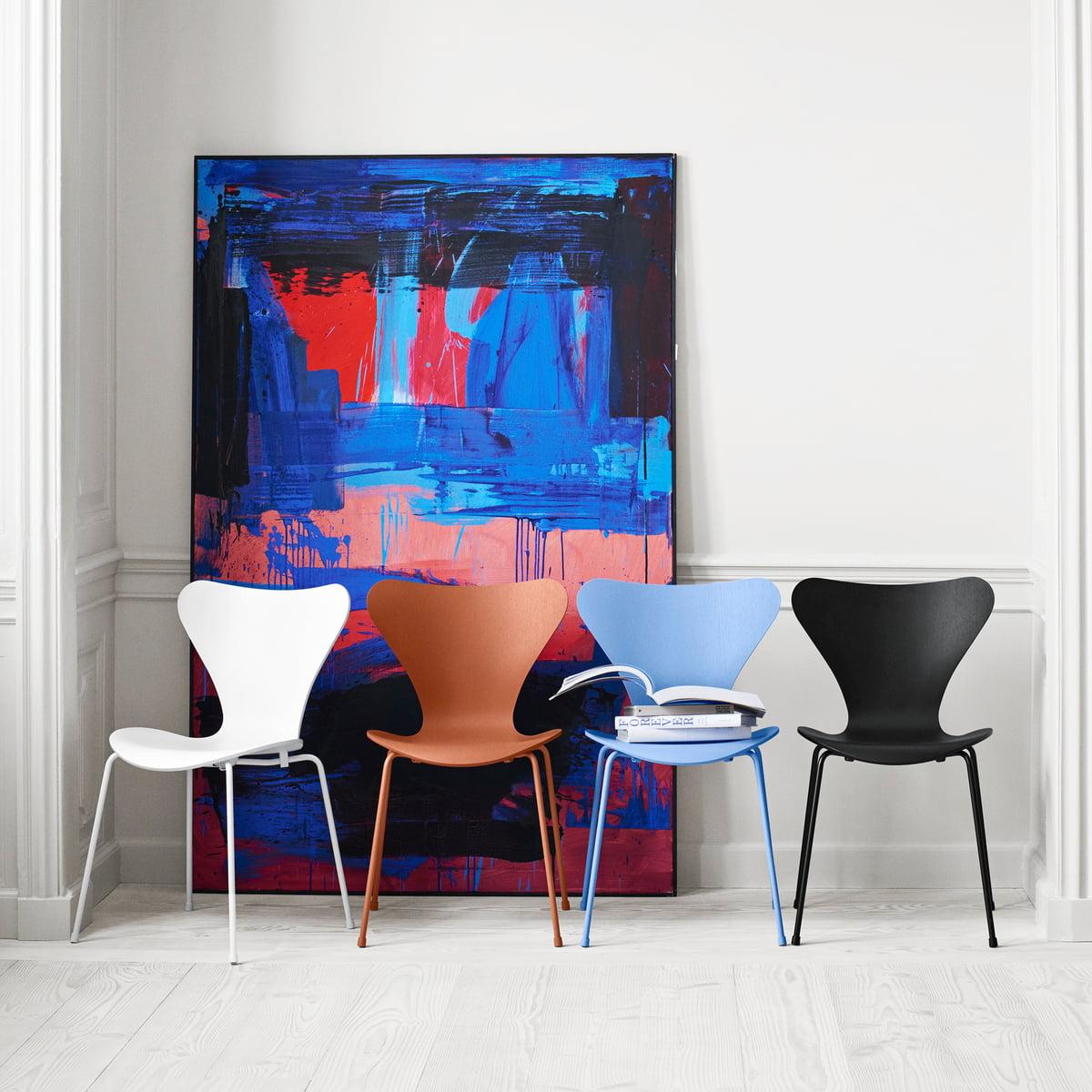 chaise monochrome s rie 7 de fritz hansen. Black Bedroom Furniture Sets. Home Design Ideas