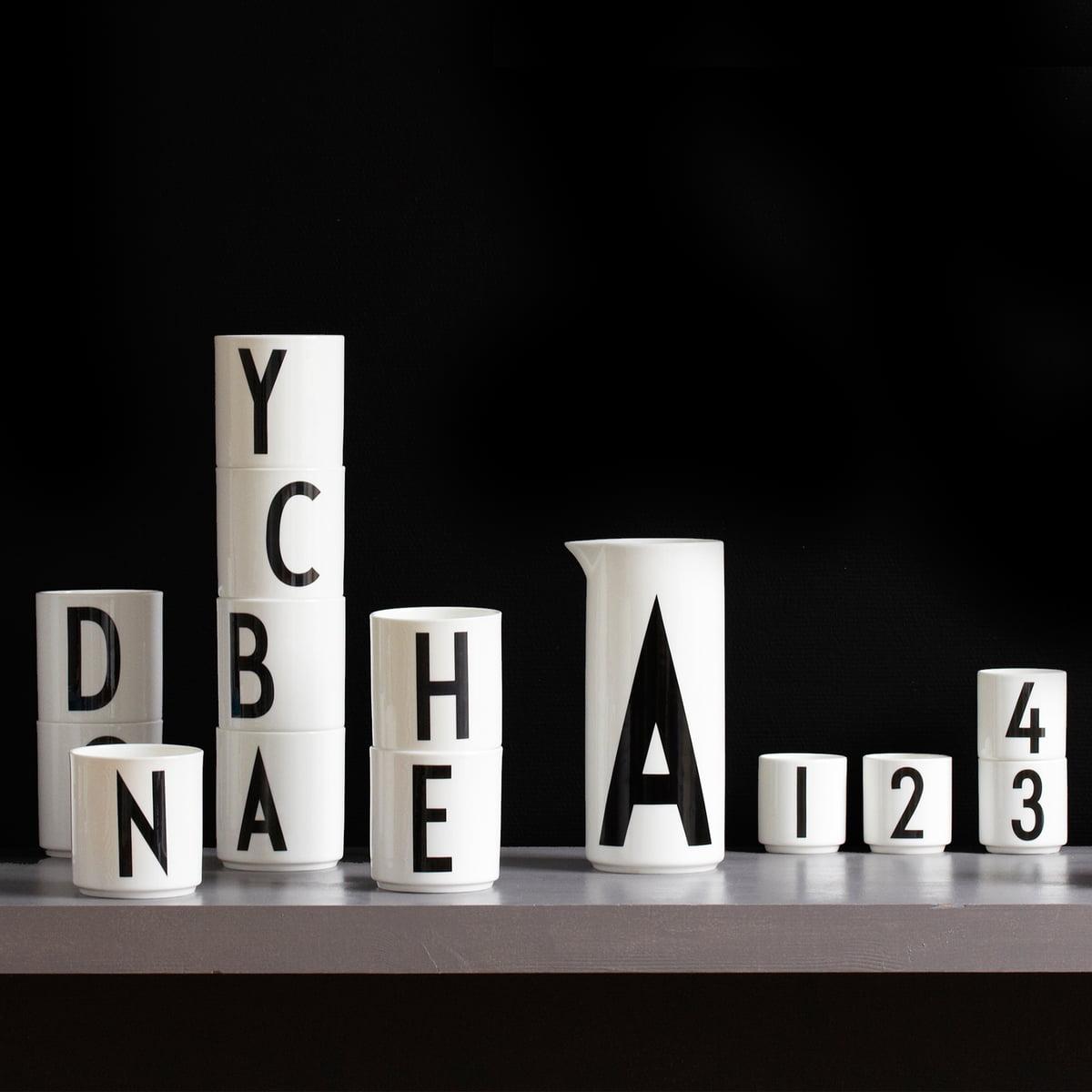design letters tasse en porcelaine aj. Black Bedroom Furniture Sets. Home Design Ideas