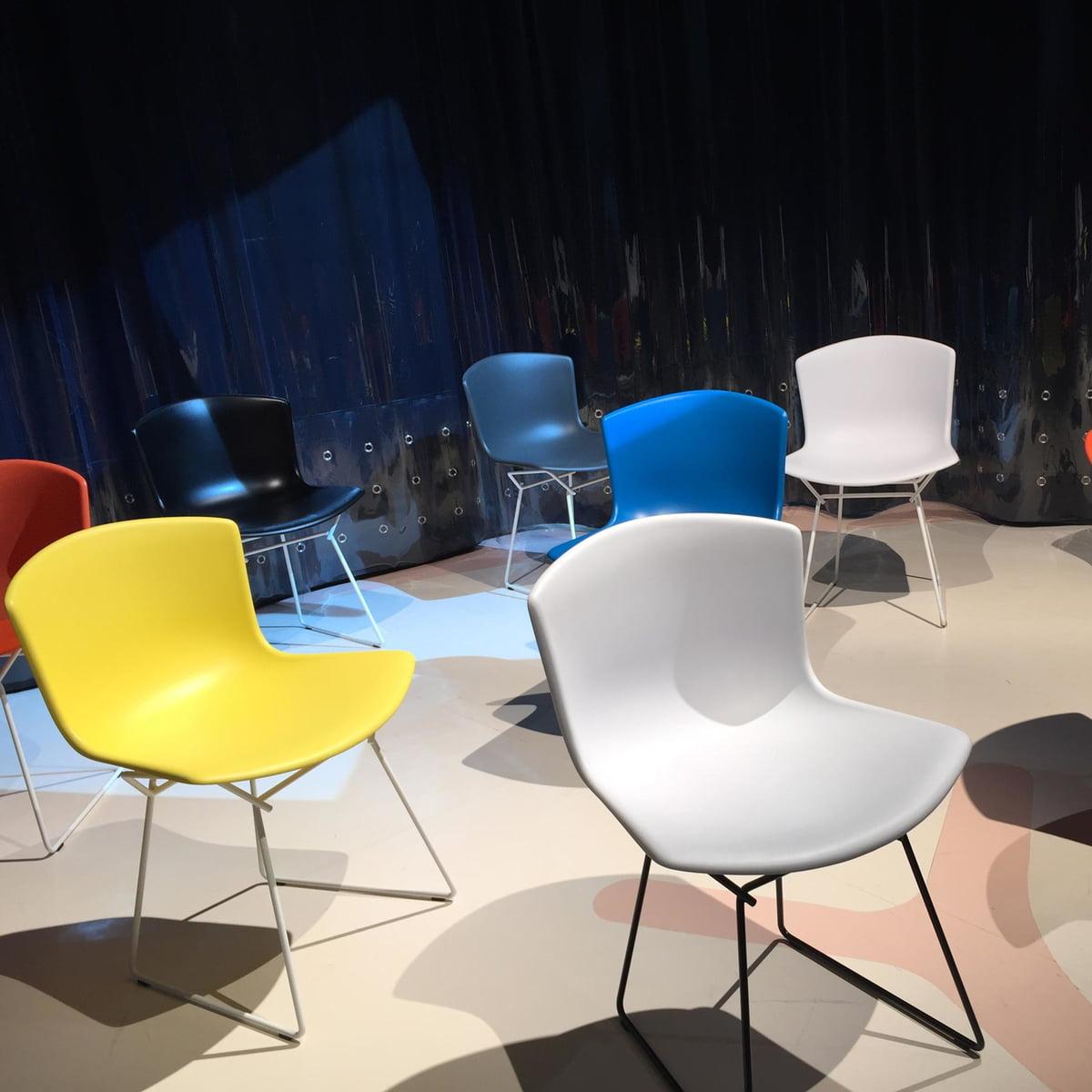 bertoia chaise en plastique de knoll. Black Bedroom Furniture Sets. Home Design Ideas