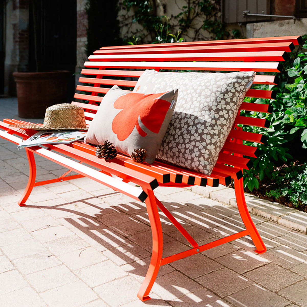 banc louisiane 200 cm par fermob connox. Black Bedroom Furniture Sets. Home Design Ideas