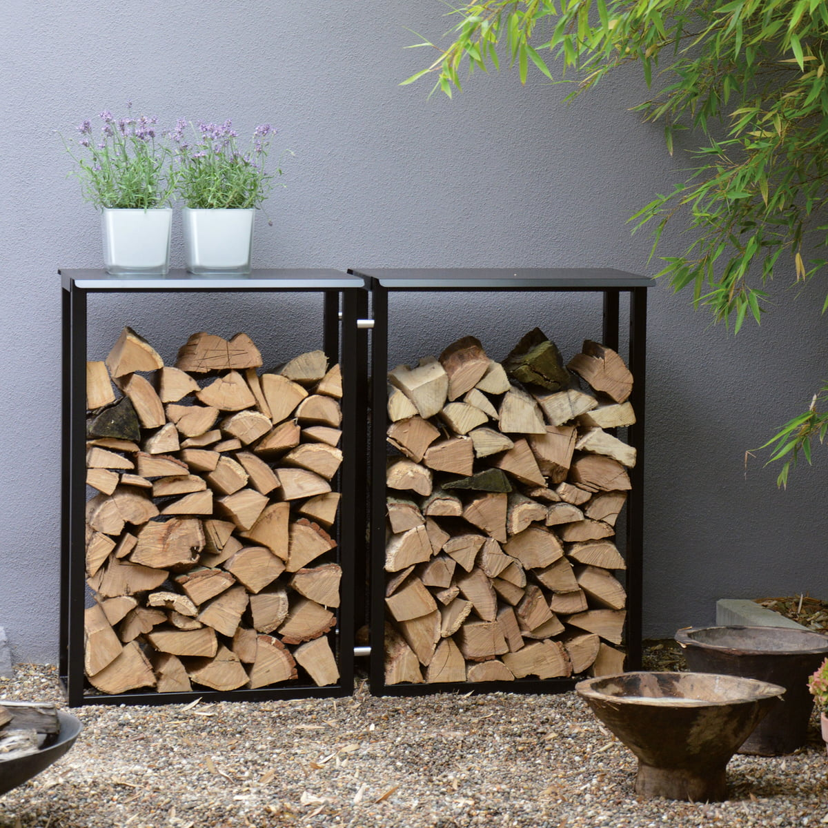 Rangement Pour Le Bois jan kurtz - holzmichel stockage pour bois de cheminée