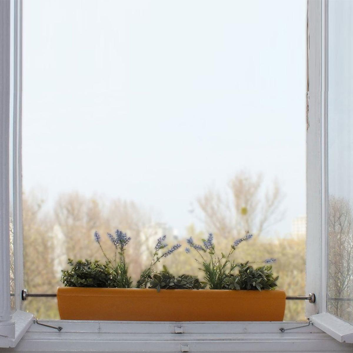 Bord De Fenetre Interieur rephorm - jardinière pour rebord de fenêtre windowgreen, blanche