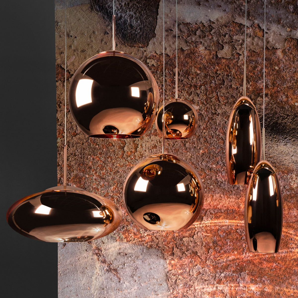 tom dixon suspension copper wide. Black Bedroom Furniture Sets. Home Design Ideas