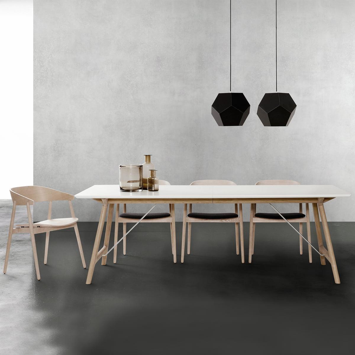 Savonné Andersen Furniture Blanc T7 Table 220 Stratifié CmChêne Extensible GMzVSUpq