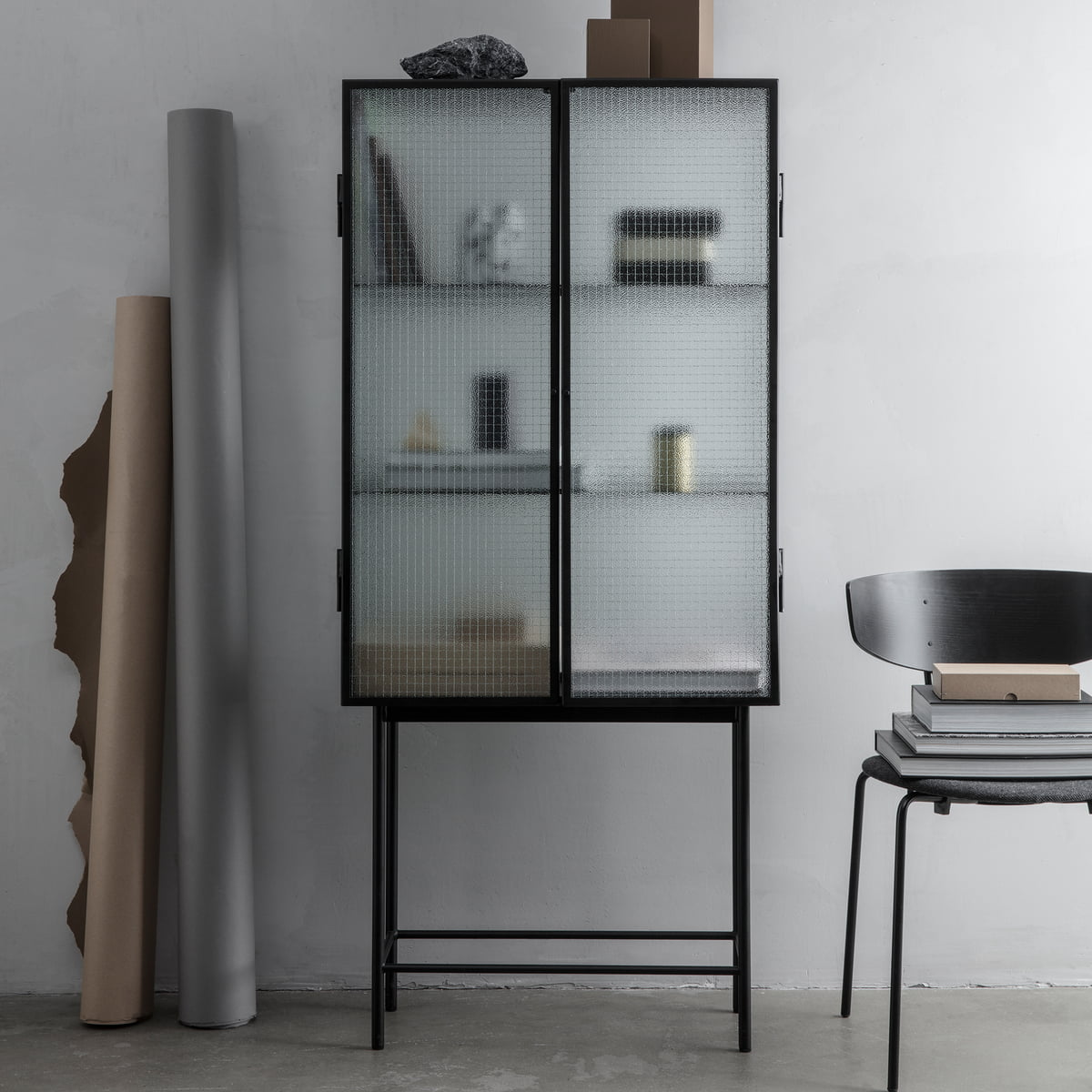 haze vitrine par ferm living connox shop. Black Bedroom Furniture Sets. Home Design Ideas