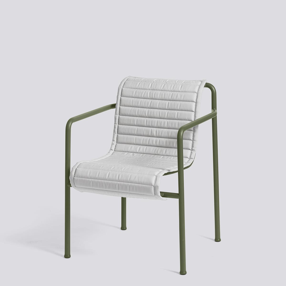 Hay Palissade coussin matelassé pour fauteuil de salle à manger, olive